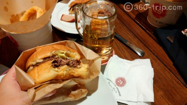25 Degrees-Burger-Singha-Beer