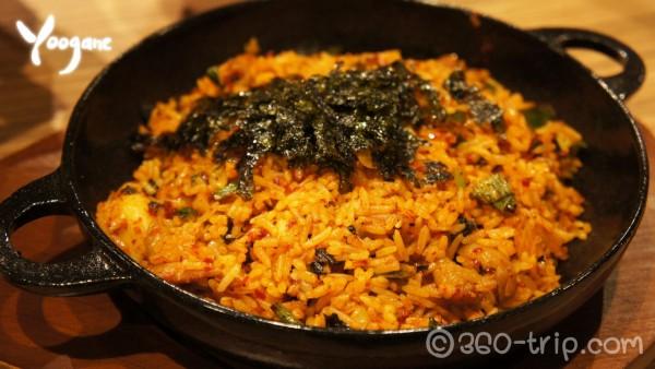 Yoogane-Marinated Chicken Galbi Fried Rice