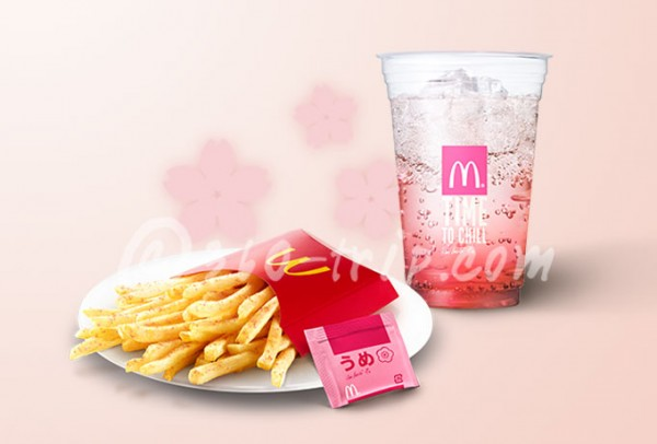 French Fries Plum Seasoning-Sakura Cherry Mac Fizz-McDonalds